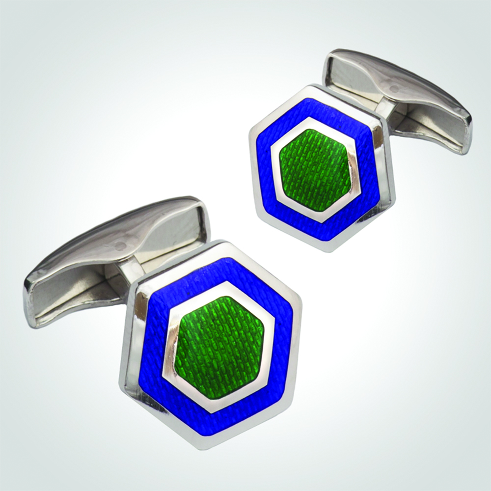 Cufflinks, Sterling Silver 925 with Enamel