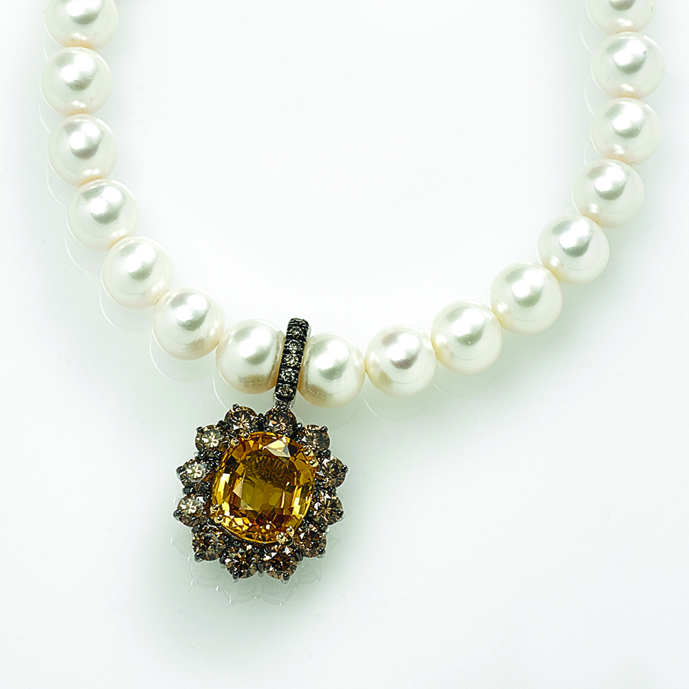 South Sea Pearl Necklace with 18ct gold Pendant